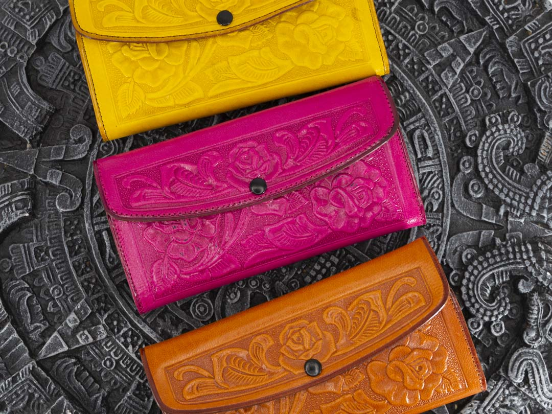 Handmade Mexican Leather Women Wallets